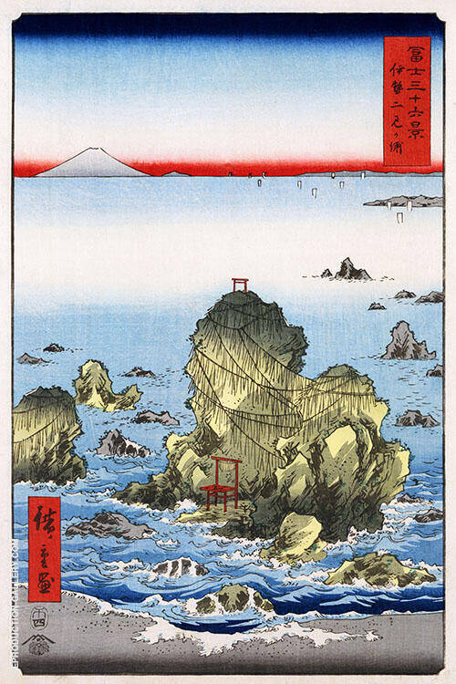 Futami Bay in Ise Province Painting By Hiroshige - Reproduction Gallery