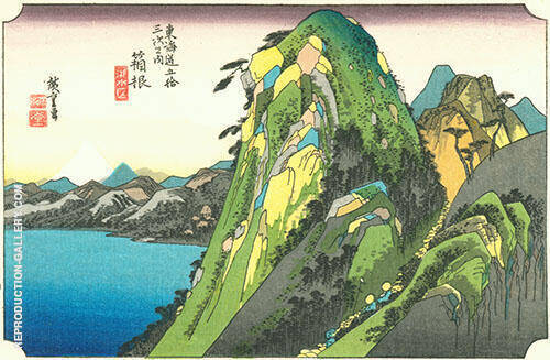 Hakone View of the Lake Painting By Hiroshige - Reproduction Gallery