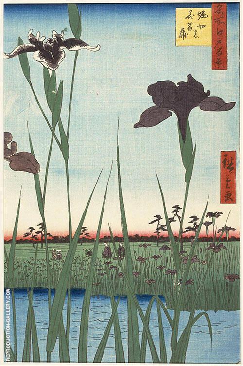 Horikiri Iris Garden Painting By Hiroshige - Reproduction Gallery
