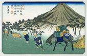 Oiwake on the Kisakaido 1830 By Hiroshige