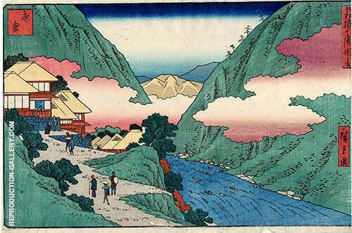 Returning Sails at Tsukuda Painting By Hiroshige - Reproduction Gallery