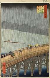 Sudden Shower Over Shon Ohashi Bridge and Atake 1857 By Hiroshige