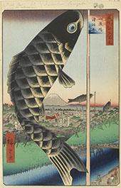 Suido Bridge and The Surugadai Quarter By Hiroshige