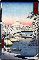Sukiyagashi in the Eastern Capital By Hiroshige