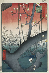 The Plum Garden in Kameido By Hiroshige