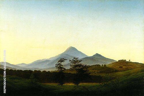 Bohemian Landscape 1808 By Caspar David Friedrich