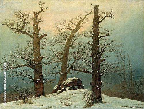 Cairn in Snow 1807 By Caspar David Friedrich