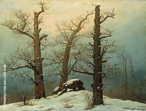 Cairn in Snow 1807 By Caspar David Friedrich