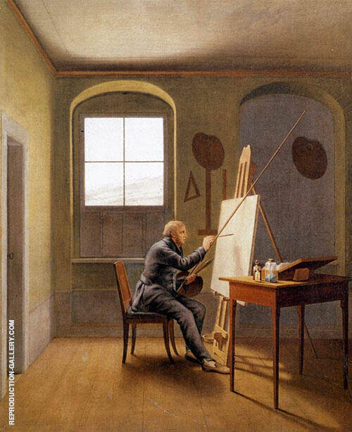 Caspar David Friedrich in his Studio 1819 II By Caspar David Friedrich