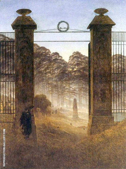 Cemetery Entrance Painting By Caspar David Friedrich