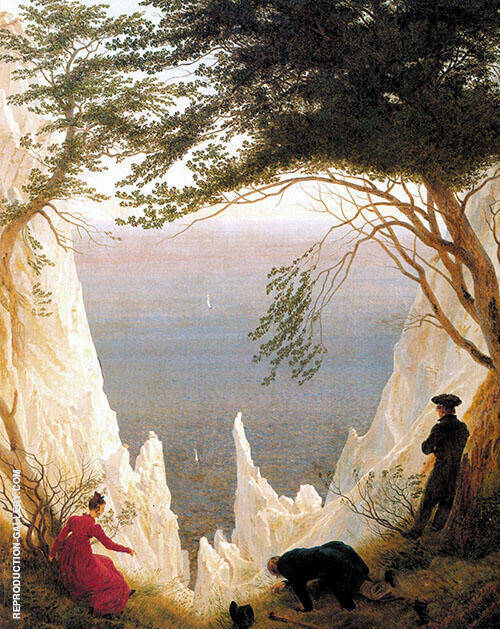 Chalk Cliffs on Rugen Painting By Caspar David Friedrich