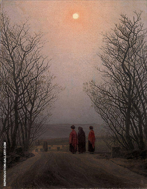 Easter Morning 1883 Painting By Caspar David Friedrich