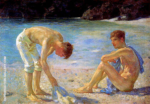 Aquamarine 1929 By Henry Scott Tuke