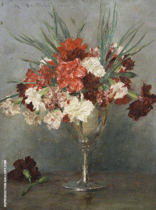Carnations Painting By Henry Scott Tuke - Reproduction Gallery