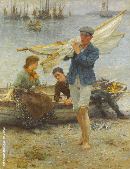 Return from Fishing 1907 Painting By Henry Scott Tuke