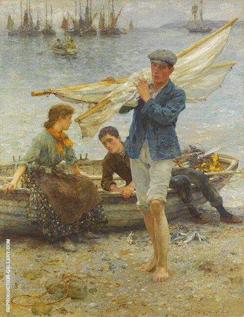 Return from Fishing 1907 By Henry Scott Tuke