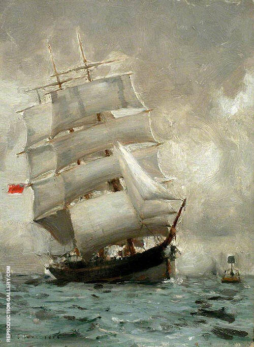 Rounding the Manacle Buoy 1888 By Henry Scott Tuke