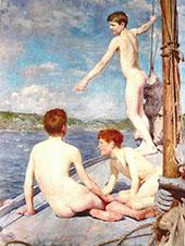Bathers 1888 By Henry Scott Tuke