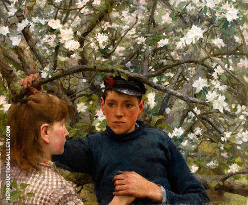 The Promise Painting By Henry Scott Tuke - Reproduction Gallery