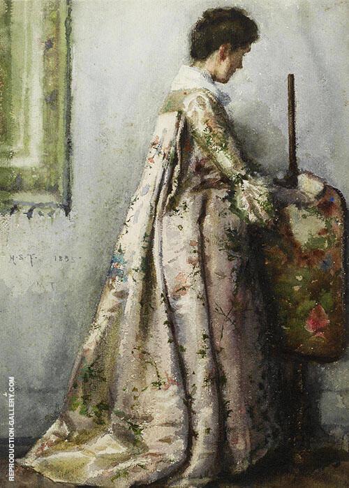 The Silk Gown Portrait of Maria Tuke Sainsbury By Henry Scott Tuke