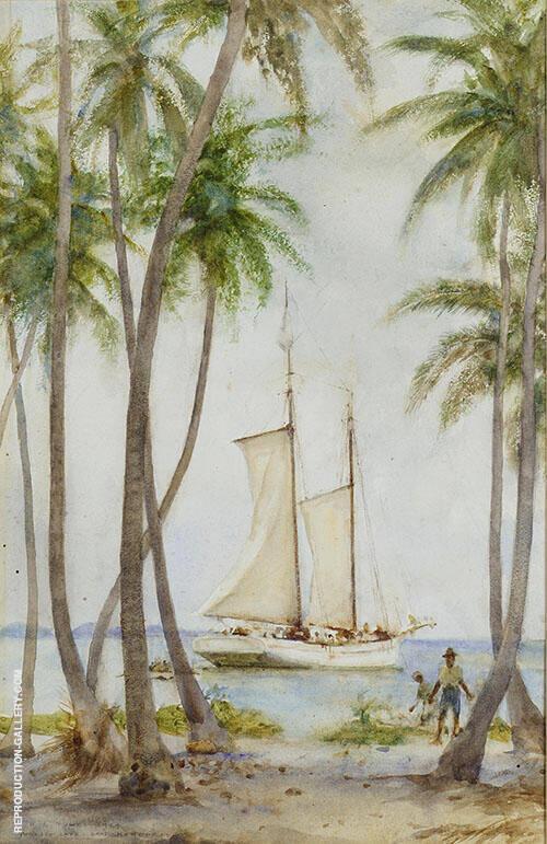 Tobacco Caye British Honduras Painting By Henry Scott Tuke