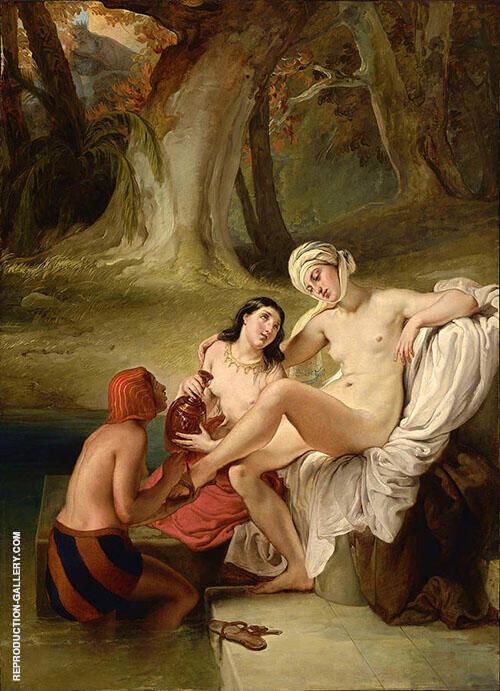 Bathsheba at her Bath By Francesco Hayez