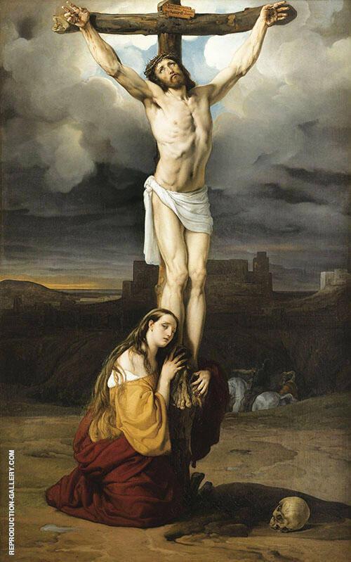 Crucifixion with Mary Magdalene By Francesco Hayez