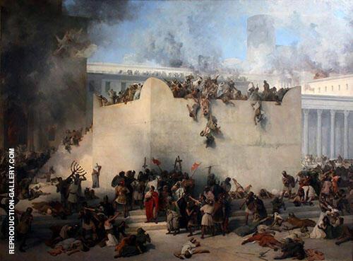 Destruction of the Temple of Jerusalem 1867 By Francesco Hayez