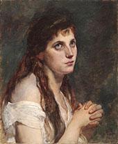 Girl with Folded Hands By Francesco Hayez
