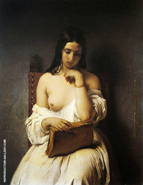 Meditation 1850 Painting By Francesco Hayez - Reproduction Gallery