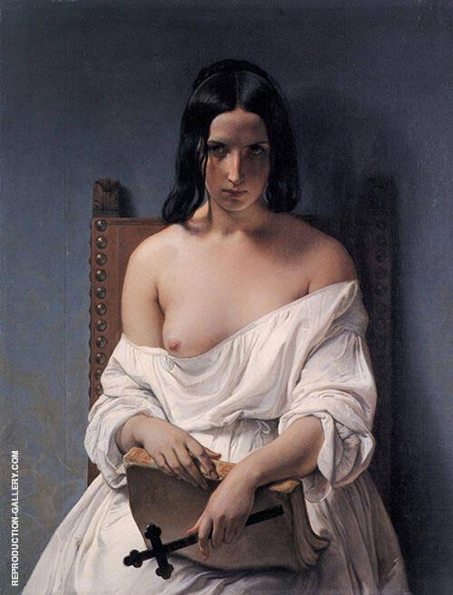 Meditation on the History of Italy 1851 Painting By Francesco Hayez