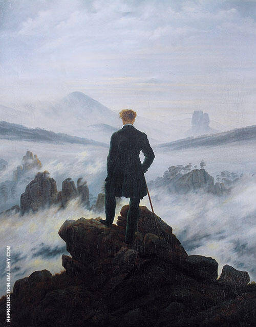 Wanderer Above the Sea of Fog 1818 By Caspar David Friedrich