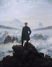 Wanderer Above the Sea of Fog 1818 By Caspar David Friedrich