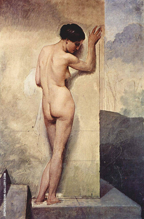 Nude Woman 1859 Painting By Francesco Hayez - Reproduction Gallery