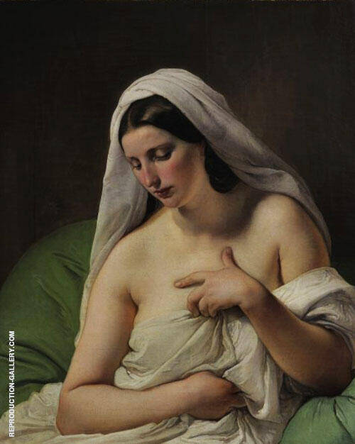 Odalisque 1867 Painting By Francesco Hayez - Reproduction Gallery