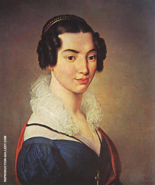 Portrait of Antonietta-Vitali-Sola By Francesco Hayez