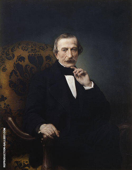Portrait of Massima d'Azeglio 1860 By Francesco Hayez