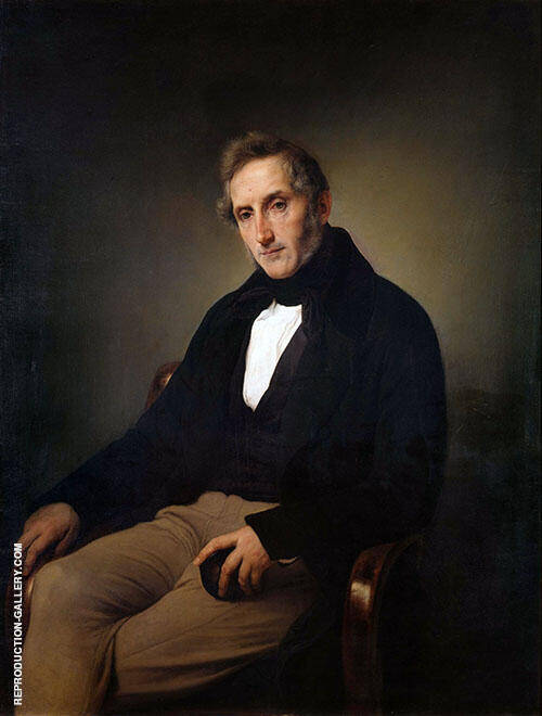 Portrait of Alessandro Mazoni 1841 Painting By Francesco Hayez