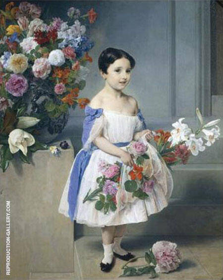 Portrait of Antoinetta Negroni Prati Morosini as a Child 1958 By Francesco Hayez