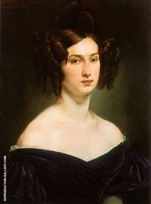 Portrait of Countess Luigia Douglas Scotti d'Adda Painting By ...