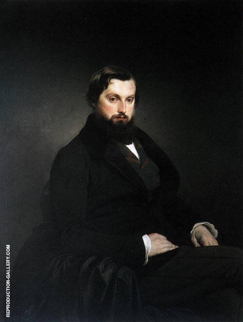 Portrait of Gian Ciacomo Poldi Pezzoli 1851 Painting By Francesco Hayez