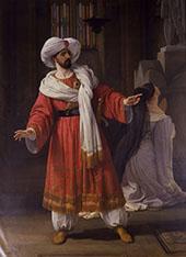 Portrait of Giovanni David as Alessando in Pacini By Francesco Hayez