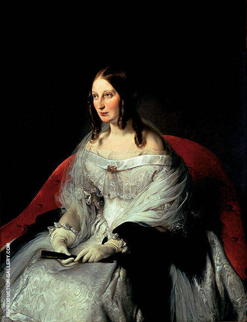 Portrait of Princess di Santi Antimo Painting By Francesco Hayez