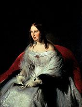 Portrait of Princess di Santi Antimo By Francesco Hayez