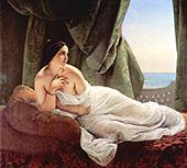 Reclining Odalisque 1839 By Francesco Hayez
