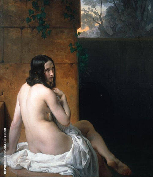 Susanna at her Bath 1859 By Francesco Hayez