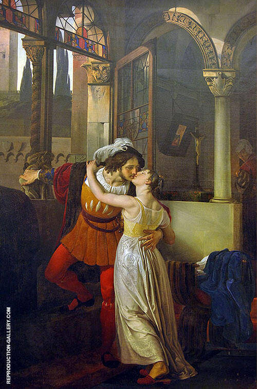 The Last Kiss of Romeo and Juliet 1823 By Francesco Hayez