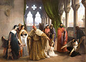 The Last Meeting between Jacopo Foscari and his family before being sent into Exile By Francesco Hayez