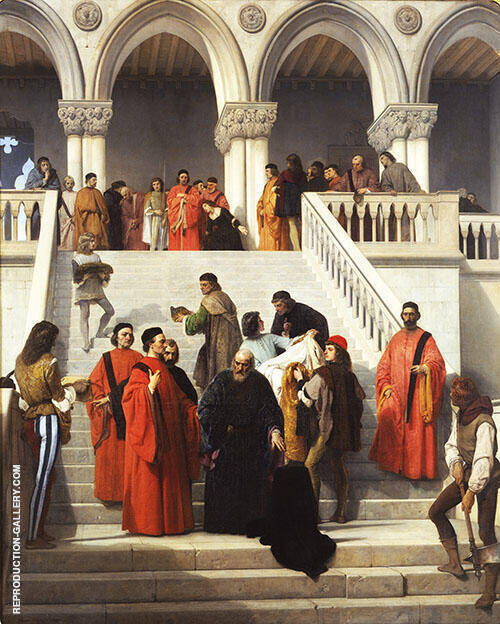 The Last Moments of Doge Marin Faliero 1867 Painting By Francesco Hayez