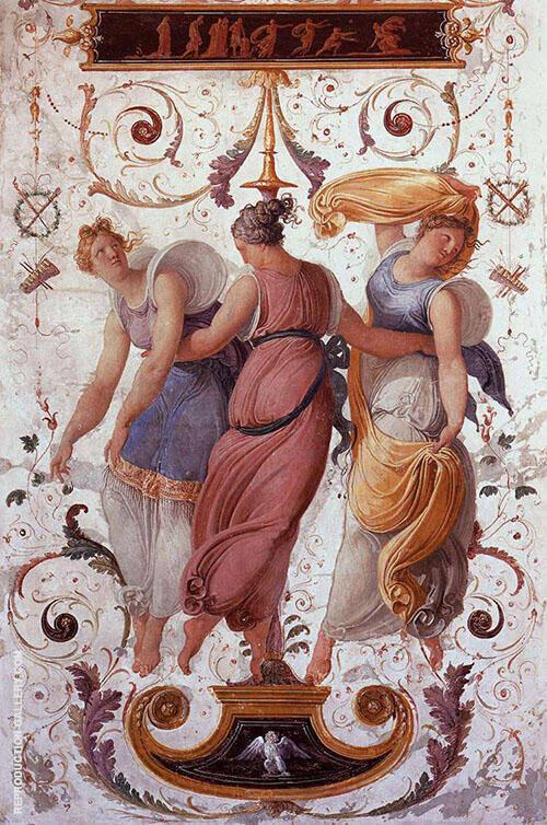 Wall Decoration detail 1817 By Francesco Hayez